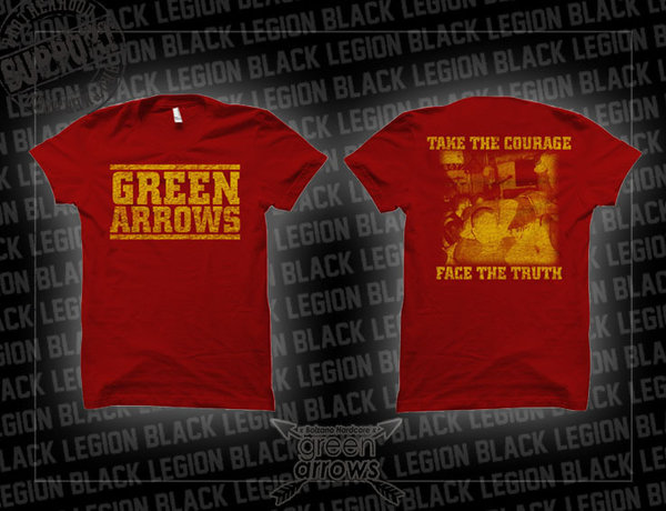 Green Arrows - Face the Truth T-Shirt - weinrot