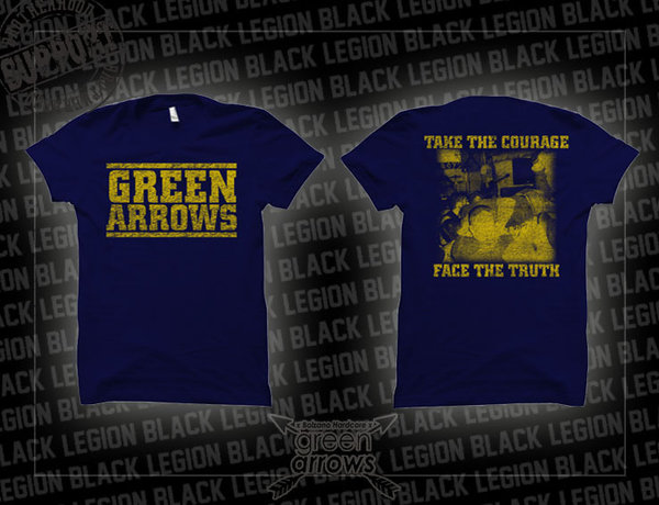 Green Arrows - Face the Truth T-Shirt - navyblau